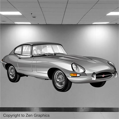 Picture of Jaguar E-Type Wall Art sticker (Full colour)