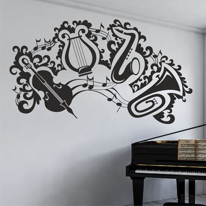 "Picture of ""Musical instruments""  Wall Art sticker"