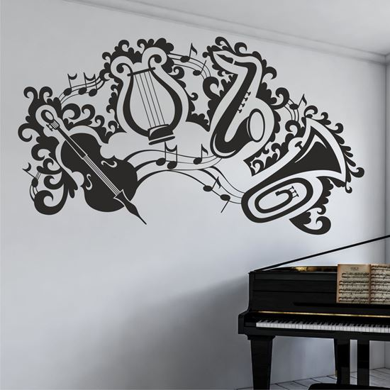 """Picture of """"Musical instruments""""  Wall Art sticker"""