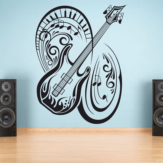 "Picture of ""Music note Guitar""  Wall Art sticker"