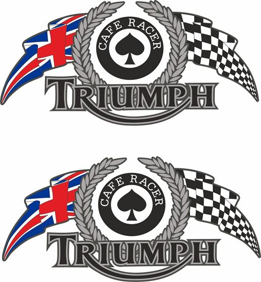 """Picture of """"Triumph Cafe Racer"""" Decals / Stickers"""