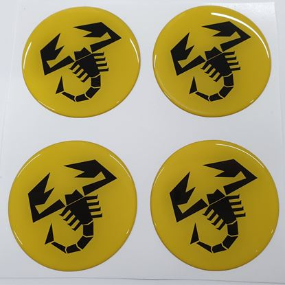 Picture of Fiat  500 / 595  Abarth wheel centre cap adhesive Badges 60mm