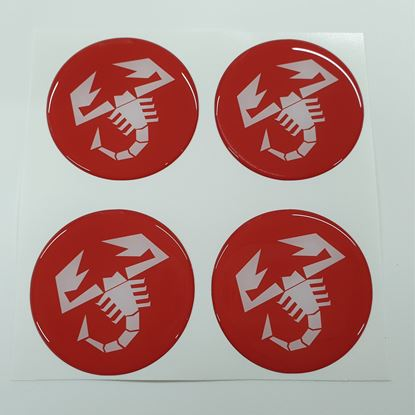 Picture of Fiat  500 / 595  Abarth wheel centre cap adhesive Badges - Pick your size!