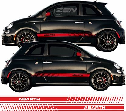 Picture of Fiat 500 / 595 Abarth OEM style side Stripes / Stickers