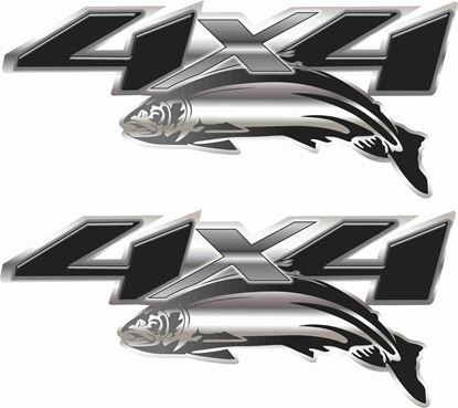 Picture of 4x4 Fish Decals  / Stickers