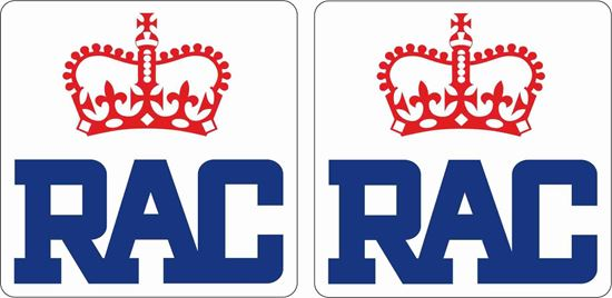 """Picture of """"RAC"""" Glass Decals / Stickers"""