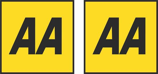 """Picture of """"AA"""" Glass Decals / Stickers"""