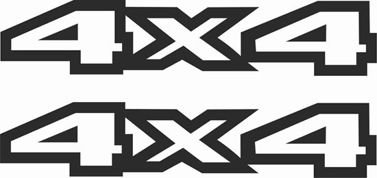 """Picture of Jeep Cherokee XJ 1993 - 96 replacement """"4x4 """" Decals / Stickers"""