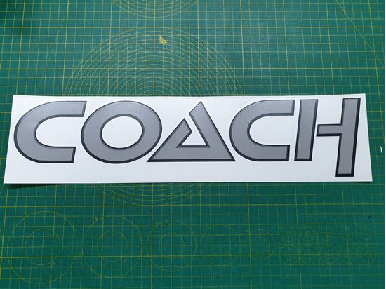 """Picture of VW T25 / T3 replacement """"""""Coach"""" front  Decal /  Sticker"""