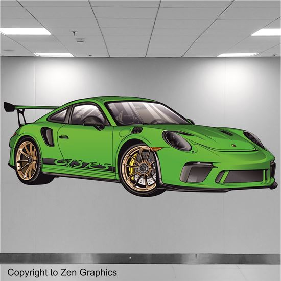 Picture of Porsche 911 GT3 RS Wall Art sticker (full Colour)