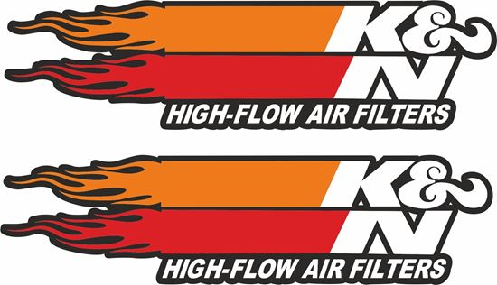 """Picture of """"K & N High-Flow Air Filters"""" Decals / Stickers"""