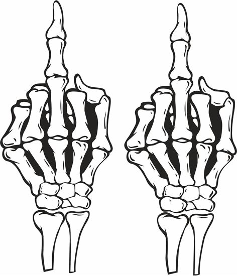 Picture of Skeleton Hand Decals / Stickers