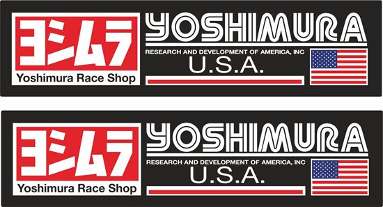 "Picture of ""Yoshimura USA"" Track and street race sponsor Decals / Stickers"