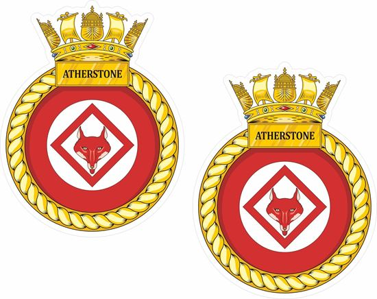 Picture of HMS Atherstone (M38), emblem Sticker