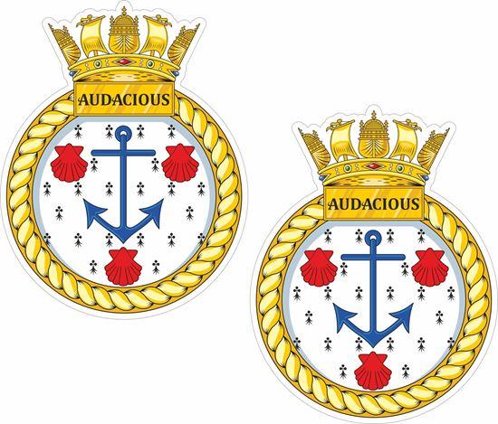 Picture of HMS Audacious (S122), emblem Sticker