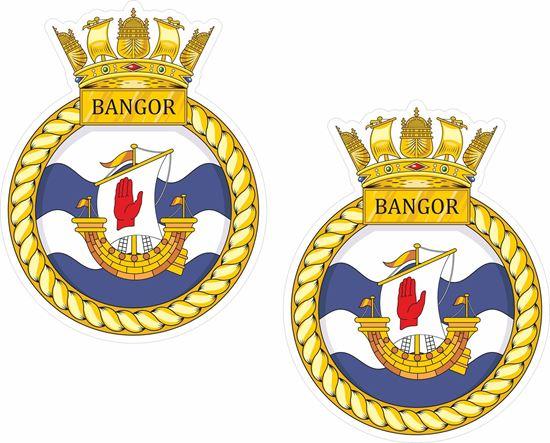 Picture of HMS Bangor (M109), emblem Sticker