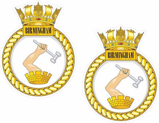 Picture of HMS Birmingham (D86), emblem Sticker