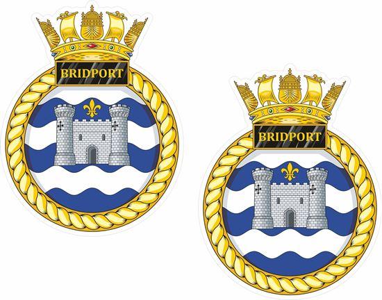 Picture of HMS Bridport (M105), emblem Sticker