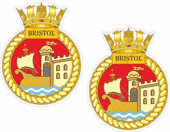 Picture of HMS Bristol (D23), emblem Sticker