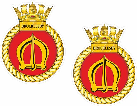 Picture of HMS Brocklesby (M33), emblem Sticker