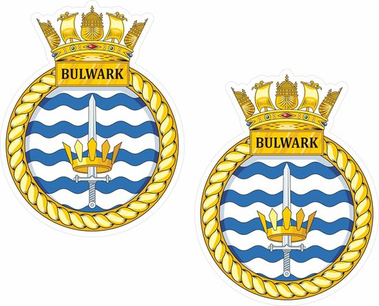 Picture of HMS Bulwark (L15), emblem Sticker