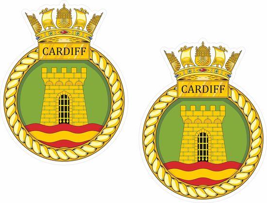 Picture of HMS Cardiff (D108), emblem Sticker