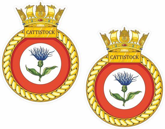 Picture of HMS Cattistock (M31), emblem Sticker