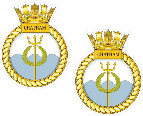 Picture of HMS Chatham (F87), emblem Sticker