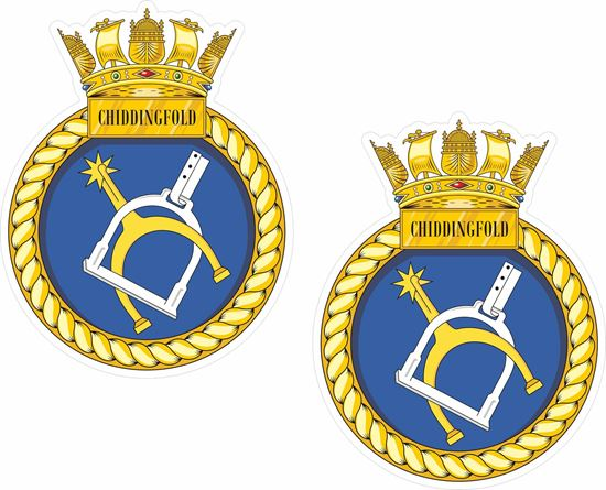 Picture of HMS Chiddingfold (M37), emblem Sticker