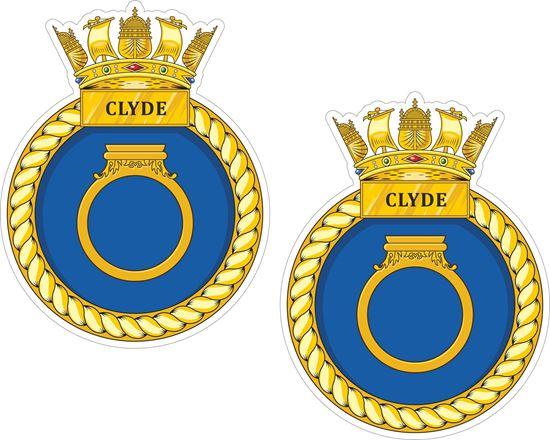 Picture of HMS Clyde (P257), emblem Sticker