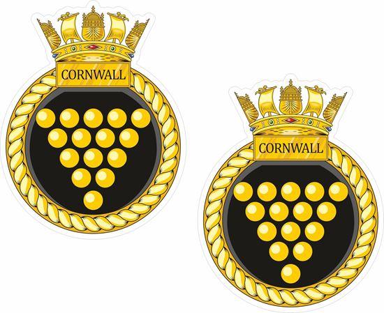 Picture of HMS Cornwall (F99), emblem Sticker - copy