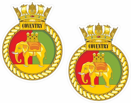 Picture of HMS Coventry (D118), emblem Sticker
