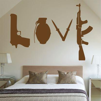 "Picture of Banksy ""Love"" Wall Art sticker"