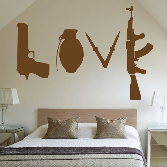 "Picture of Banksy ""Love"" Wall Art sticker"