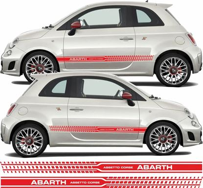 Picture of Fiat  500 / 595 Abarth Assetto Corse side Stripes / Stickers