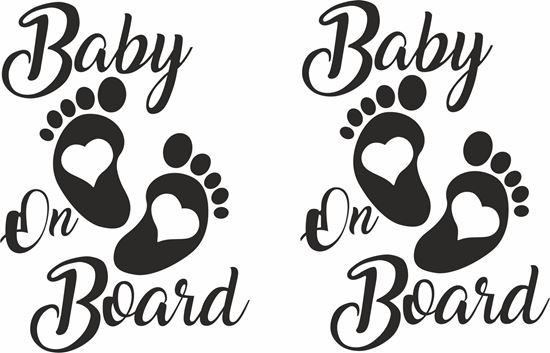 "Picture of ""Baby on Board"" Decals / Stickers"