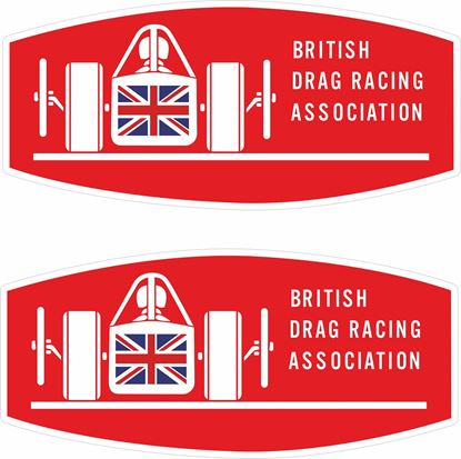 Picture of British Drag Racing Association Decals / Stickers