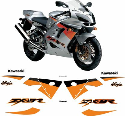 Picture of Kawasaki ZX-9R Ninja 2003 replacement Decals / Stickers