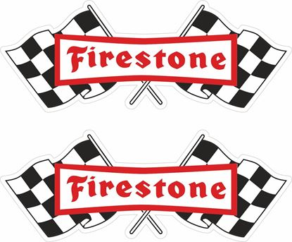 """Picture of """"Firestone"""" Decals / Stickers"""