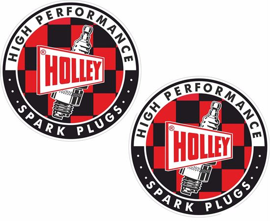 """Picture of """"Holley Spark Plugs"""" Decals / Stickers"""
