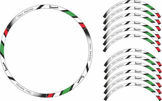 """Picture of Vespa 12"""" Wheel Rim Stripes  / Stickers"""