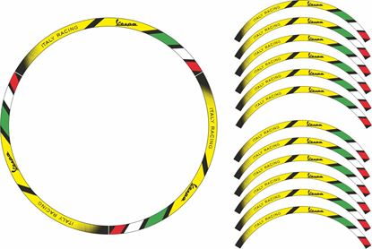 "Picture of Vespa 12"" Wheel Rim Stripes  / Stickers"