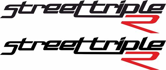 """Picture of Triumph """"Street Triple R"""" Decals / Stickers"""