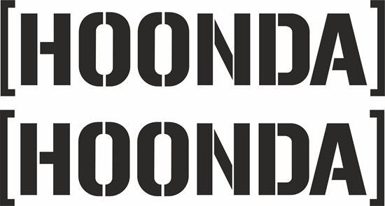 "Picture of ""Hoonda"" JDM Decals / Stickers"