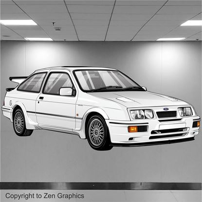 Picture of Ford Sierra RS500 Wall Art sticker (full colour)