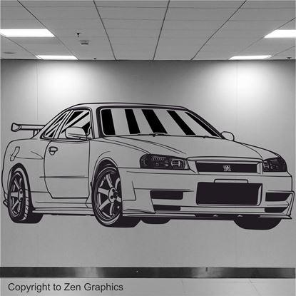Picture of Nissan Skyline R34 GTR  Wall Art sticker