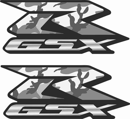 Picture of GSX-R Custom Camo Decals / Stickers