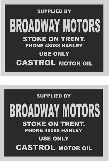 Picture of Broadway Motors Ltd Stocke on Trent Dealer  Decals / Stickers