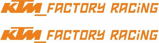 """Picture of """"KTM Factory Racing""""  Decals / Stickers"""
