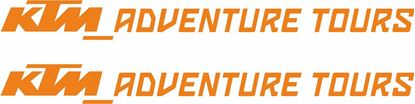 "Picture of ""KTM Adventure Tours""  Decals / Stickers"